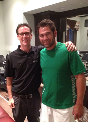 Brian Moriarty, D.C and Johnny Damon, 2-time World Series Champion