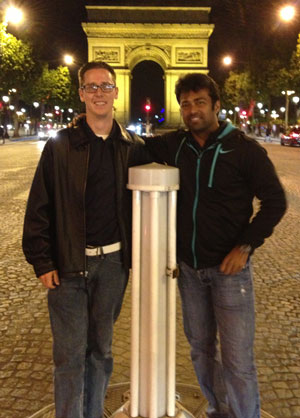 Brian Moriarty, D.C. with Leander Paes, 14-time Grand Slam Tennis Champion